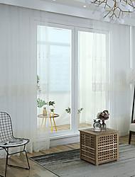 abordables -deux rideaux diaphanes deux panneaux chambre bohème broderie tricotée