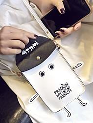 abordables -Unisexe Rivet PU Mobile Bag Phone Bloc de Couleur Noir / Blanche