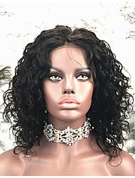 cheap -Remy Human Hair Lace Front Wig Bob Short Bob style Brazilian Hair Curly Wig 130% Density Women's Short Human Hair Lace Wig beikashang