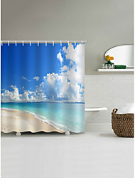 cheap -Shower Curtains & Hooks Contemporary Casual Polyester 3D Machine Made Waterproof Bathroom