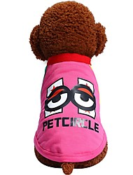 cheap -Dogs Cats Pets Shirt / T-Shirt Dog Clothes Fuchsia Blue Costume Dalmatian Beagle Pug Cotton / Polyester Cartoon Quotes & Sayings British Japan and Korea Style Fashion XS S M L XL