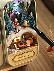 abordables -Maison de Poupées Créatif A Faire Soi-Même Noël Meuble En bois Romantique 1 pcs Tous Jouet Cadeau