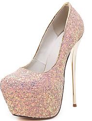 cheap -Women's Heels Stiletto Heel Sparkling Glitter Glitter Gladiator / Basic Pump Spring / Fall Black / White / Green / Party & Evening