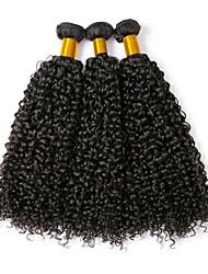 cheap -3 Bundles Brazilian Hair Curly Remy Human Hair 100% Remy Hair Weave Bundles 300 g Natural Color Hair Weaves / Hair Bulk Human Hair Extensions 8-28 inch Natural Color Natural Black Human Hair Weaves