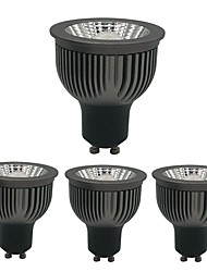 Недорогие -zdm 4шт dimmable gu10 gu5.3 e27 e14 4w cob 250-360lm черный утолщенный алюминиевый отражатель светодиодные лампы ac220v / ac110v