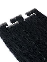 cheap -Neitsi Tape In Human Hair Extensions Straight Remy Human Hair Extension Brazilian Hair Black Blonde 1pack Silky Women Extention Women's Light Blonde