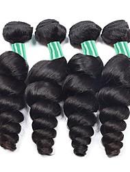 cheap -4 Bundles Brazilian Hair Wavy Human Hair Natural Color Hair Weaves / Hair Bulk Human Hair Extensions Natural Color Human Hair Weaves Best Quality Hot Sale For Black Women Human Hair Extensions / 8A