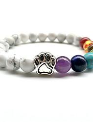 cheap -Turquoise Strand Bracelet / Bracelet - Cat Claw Vintage, Bohemian, Fashion Bracelet White / Black For Birthday / Evening Party
