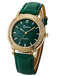 cheap -Women's Dress Watch Quartz Leather Black / White / Red Chronograph Cute New Design Analog Ladies Luxury Sparkle - Green Pink Light Green One Year Battery Life / Luminous / Imitation Diamond