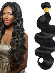 cheap -4 Bundles Peruvian Hair Body Wave Human Hair Unprocessed Human Hair Natural Color Hair Weaves / Hair Bulk Bundle Hair Human Hair Extensions 8-28 inch Natural Natural Color Human Hair Weaves Women