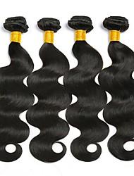 cheap -4 Bundles Malaysian Hair Wavy Human Hair Natural Color Hair Weaves / Hair Bulk Extension Bundle Hair 8-28 inch Natural Color Human Hair Weaves Best Quality New Arrival For Black Women Human Hair / 8A