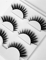 cheap -Eyelash Extensions False Eyelashes 6 pcs Professional Volumized Natural Curly Fiber Daily Date Full Strip Lashes Thick - Makeup Daily Makeup Professional Portable Cosmetic Grooming Supplies