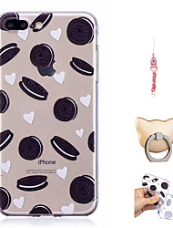 cheap -Case For Apple iPhone X / iPhone 8 Plus / iPhone 8 Pattern Back Cover Food Soft TPU