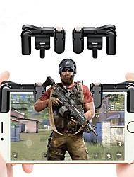 cheap -2PCS Mobile Phone Gaming Trigger L1R1 Shooter Controller for PUBG Knives Out Rules of Survival Controller Shooter Fire Button