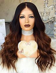 cheap -Remy Human Hair Lace Front Wig Layered Haircut Rihanna style Brazilian Hair Wavy Brown Wig 150% Density with Baby Hair 100% Virgin Women's Short Medium Length Long Human Hair Lace Wig Luckysnow