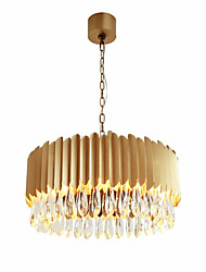 cheap -12 Bulbs QIHengZhaoMing 60 cm Crystal Chandelier Metal Crystal Painted Finishes Chic & Modern 110-120V / 220-240V