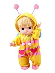 cheap -Girl Doll Fashion Doll Baby Girl 10 inch Silicone - lifelike Eco-friendly Cute Child Safe Non Toxic Hand Applied Eyelashes Kid's Unisex Toy Gift