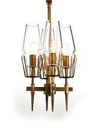 cheap -JLYLITE 4-Light 30 cm Mini Style Chandelier Metal Novelty Brass Artistic / Chic & Modern 110-120V / 220-240V
