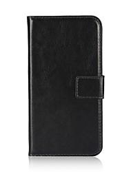 Недорогие -Кейс для Назначение Apple iPhone X / iPhone 8 Pluss / iPhone 8 Кошелек / Бумажник для карт / Флип Чехол Однотонный Твердый Кожа PU