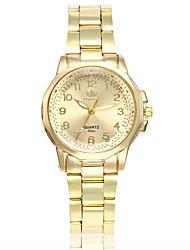 cheap -Women's Dress Watch Wrist Watch Gold Watch Quartz Silver / Gold New Design Casual Watch Analog Ladies Fashion Elegant - Black / Gold Silver / Black Gold / White One Year Battery Life