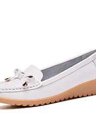 cheap -Women's Flats Heterotypic Heel Round Toe PU Classic / Minimalism Swing Shoes Spring &  Fall Black / White / Orange