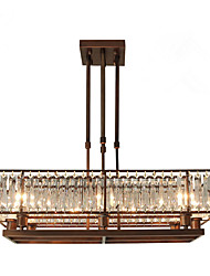 cheap -ZHISHU 8-Light Crystal Chandelier Ambient Light Painted Finishes Metal Crystal, Mini Style, Adjustable 110-120V / 220-240V Bulb Included