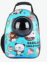 cheap -Dog Rabbits Cat Carrier Bag & Travel Backpack Waterproof Portable Mini Pet Oxford Cloth Animal British Fashion Black / White Red Blue
