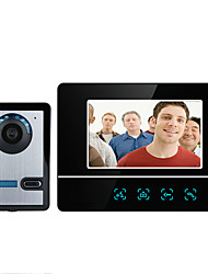 cheap -MOUNTAINONE SY811FA11 7 Inch Video Door Phone 7inch Hands-free 700 TV Line One to One video doorphone
