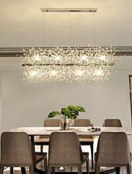cheap -12-Lights Island Chandelier Gold Pendant Lighting Firework LED Light Stainless Steel Crystal With G9 Bulb Base