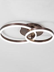Недорогие -нордический стиль светодиодный потолочный светильник 50/40 два круга акриловые современный свет в помещении для гостиной, спальни, ресторана