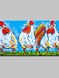 cheap -Mintura® Hand Painted Cartoon Cock Oil Painting On Canvas Modern Abstract Wall Art Pictures For Home Decoration Ready To Hang