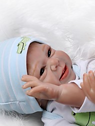 cheap -NPKCOLLECTION NPK DOLL Reborn Doll Girl Doll Baby Girl 20 inch Silicone - Newborn lifelike Cute Child Safe Non Toxic Hand Applied Eyelashes Kid's Unisex / Girls' Toy Gift / CE Certified / Floppy Head