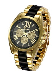 cheap -Men's Wrist Watch Analog Quartz Luxury Chronograph Fake Three Eyes Six Needles Cool Word / Phrase / One Year / Stainless Steel / Stainless Steel
