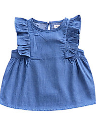 cheap -Baby Girls' Basic Solid Colored Sleeveless Dress Blue / Toddler