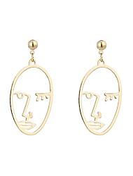cheap -Women's Stud Earrings Drop Earrings Face Statement Ladies Vintage Fashion Earrings Jewelry Gold / Silver For Carnival Bar 1 Pair