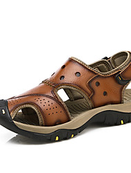 cheap -Men's Comfort Shoes Cowhide Summer / Fall Sporty Sandals Water Shoes Brown / Coffee / Casual / Party & Evening