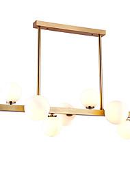 cheap -ZHISHU 7-Light 75 cm Mini Style Chandelier Metal Glass Island Brass Nature Inspired / Country 110-120V / 220-240V