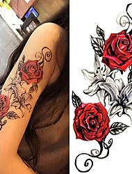 cheap -3 pcs Tattoo Stickers Temporary Tattoos Flower Series / Romantic Series Body Arts Body / Shoulder / Leg