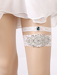 cheap -Lace Classic Jewelry / Vintage Style Wedding Garter With Rhinestone / Gore Garters Wedding / Party & Evening