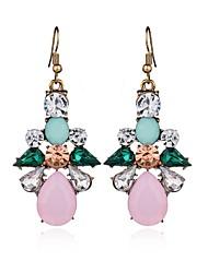 cheap -Crystal Drop Earrings Long Drop Flower Ladies Sweet Fashion Elegant Earrings Jewelry Rainbow For Wedding Party / Evening