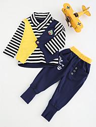 cheap -Infant Boys' Stripes Long Sleeve Regular Cotton Clothing Set Blue