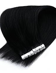 cheap -Neitsi Tape In Human Hair Extensions Straight Human Hair Extension Indian Hair 1pack New Arrival Hot Sale Fashion Female Medium Brown