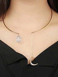cheap -Choker Necklace Moon Crescent Moon Ladies Bohemian Vintage Boho Alloy Gold 20 cm Necklace Jewelry For Gift Evening Party Street