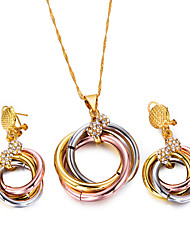 cheap -Women's Jewelry Set Hoop Earrings Pendant Necklace Thick Chain Ladies Bohemian Fashion Boho Earrings Jewelry Gold / Black For Party Gift / Chain Necklace