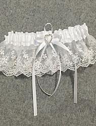cheap -Chiffon Satin / Lace Classic Jewelry / Vintage Style Wedding Garter With Rhinestone / Ruffle Garters Wedding / Party & Evening