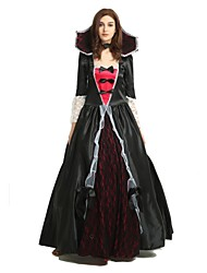 cheap -Witch Costume Unisex Halloween Halloween Carnival New Year Festival / Holiday Polyster Outfits Black Solid Colored Halloween