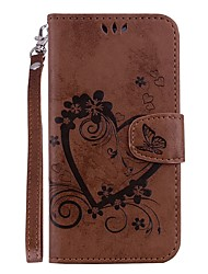 cheap -Case For Samsung Galaxy S9 / S9 Plus Card Holder / with Stand / Flip Full Body Cases Heart Hard PU Leather