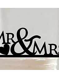 cheap -Cake Topper Romance / Letter / Heart Hearts Other Material Wedding / Birthday with Heart / Trim 1pcs OPP