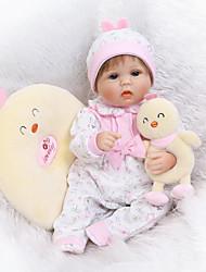 cheap -NPKCOLLECTION NPK DOLL Reborn Doll 16 inch Silicone - Newborn lifelike Cute Child Safe Non Toxic Hand Applied Eyelashes Kid's Boys' / Girls' Toy Gift