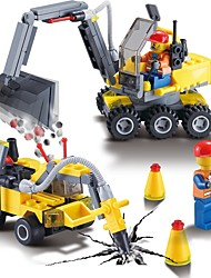 cheap -Building Blocks Construction Set Toys Educational Toy 196 pcs Construction Vehicle compatible Legoing High Quality Construction Truck Set Boys' Girls' Toy Gift